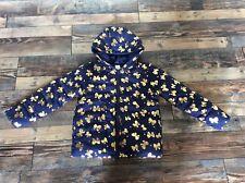 Gymboree Girls Navy Blue Gold Bow puffer coat jacket Nwt size M 7 8