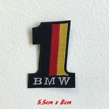 Bmw 1 Germany flag Badge Embroidered logo Iron Sew on Patch #1520