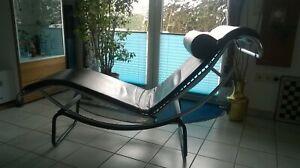 LE CORBUSIER Liege LC4 Replica Nachbau Kunstleder schwarz Relaxsessel