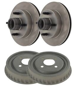🔥Centric Front Disc Brake Rotors & Rear Drums Kit For Ford Pinto Mustang II🔥