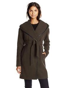 Calvin Klein Women's Doubleface Wool Wrap Coat # 6