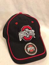 Buckeye Logo Ohio State Osu Black / Red Baseball Hat Cap Embroidered