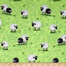 Fat Quarter Lewe the Ewe Sheep Susybee Cotton Quilting Fabric