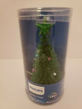 """Philips 7"""" Christmas Tree Glitter Multicolored LED Lights Battery Operated"""