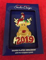 Regent Square DEER Silver Plated Ornament European Crystals 2019