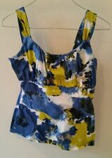 Anne Taylor petite Small sleeveless shirt Tie Dye abstract fitted bodice
