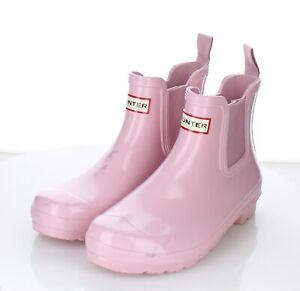 52-52 $135 Women's Sz 8 M Hunter Original Gloss Waterproof Chelsea Boot