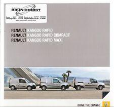 Prospekt / Brochure Renault Kango Rapid 06/2012 mit Preisliste