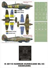 Montex Super Mask 1:48 Hurricane Mk.IIC for Hasegawa Spraying Stencil #K48110