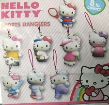 HELLO KITTY SPORTS SOCCER SURF DANGLERS CELL STRAP KEYCHAIN 8PC SET