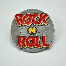 * Rock N`Roll Music Belt Buckle Gürtelschnalle LP Single Design Rockabilly *578