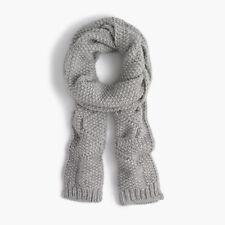 J. Crew Italian Wool-blend Scarf Wool Acrylic Alpaca Gray One Size Pre-owned
