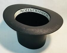 MOËT & CHANDON Vintage black plastic hat Champagne Ice bucket cooler 1985 VGC