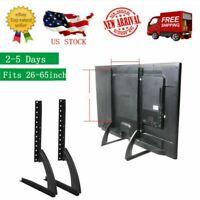 "2pcs Tabletop TV Stand Base Pedestal Mount Fits 26""-65"" LCD LED Flat Screen US"