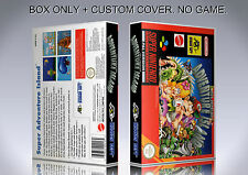 SUPER ADVENTURE ISLAND. PAL. Box/Case. Super Nintendo. BOX + COVER. (NO GAME).