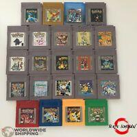 Compatible Game Boy Pokemon Vert Green - Rouge Red - Bleu Blue - Jaune Yellow