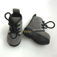 "Mimi Collection 12"" Blythe Pullip Momoko Obitsu Doll Shoes Velvet Boots Grey"