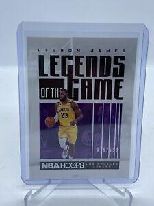 2020/21 Panini LeBron James #/699 👀 Legends Of The Game LA Lakers