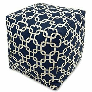 Navy Blue Links Small Cube