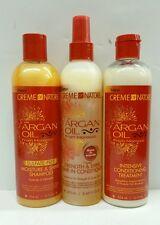 Cream of Nature Argan Oil Shampoo, leave in Conditioner & Treatment Set 3pcs Set