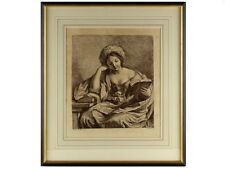 1764 Engraving of Young Woman Reading by Bartolozzi