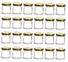 Nakpunar 24 pcs, 1.5 oz Mini Glass Jars with Gold Lid for Jam, Honey, Wedding
