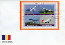 Chad 2018 FDC Concorde 4v M/S Cover Airplanes Aviation Stamps