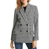 LINI Womens Olivia Knit Houndstooth Two-Button Blazer Jacket BHFO 4001
