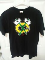 Vintage Chicago Blackhawks Majestic NHL Men's  S/S T-Shirt Nice Graphic Large L