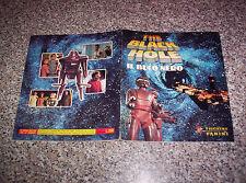 ALBUM THE BLACK HOLE IL BUCO NERO PANINI 1980 COMPLETO OTTIMO NO CALCIATORI