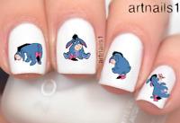Disney Eeyore Winnie the Pooh Bear Nail Art Water Stickers Manicure Salon Polish