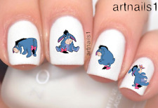 Disney Eeyore Winnie Pooh Bear Nail Art WaterSlideStickers Manicure Salon Polish