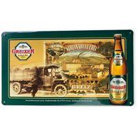Greizer Schloß Pils Blechschild 25,5x14,5cm Bier Werbung Reklame