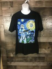 Star Wars Black Tshirt Trooper Painting XLarge
