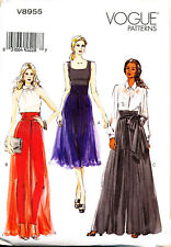 VOGUE SEWING PATTERN 8955 MISSES SZ 6-14 LOOSE-FITTING WIDE-LEG PANTS / CULOTTES