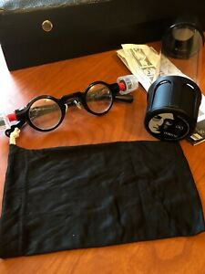 NEW Adlens Variable Focus Adjustable John Lennon Eye Glasses W/ Sealed Case Bag
