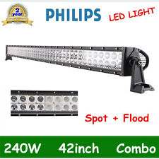 42inch 240W Philips Led Work Combo Flood Spot Light Bar Driving ATV 4WD Jeep /40