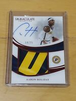 2018 Immaculate Aaron Holiday RC Auto True RPA 2 Clr Patch /25 Top Card Rookie