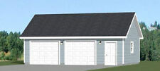 30x20 2-Car Garage -- 600 sqft -- PDF Floor Plan -- Model 5A