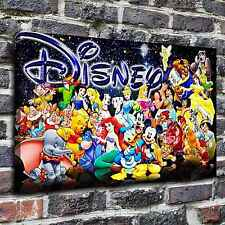 Disney characters Painting HD Print on Canvas Home Decor Wall Art Pictures