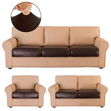 Faux Leather Stretchy Sofa Seat Cushion Cover Chair Couch Loveseat Slipcovers