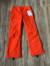 Spyder Women's Thrill Ski Pants Sizzle Orange Tailored Fit PrimaLoft New 10 $275