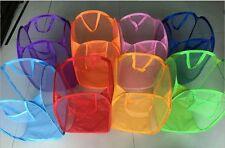 Foldable Portable Washing Clothes Laundry Basket Bag Bin Hamper Mesh Storage