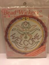"Bead Wickery Kit 10"" Wall Decoration Welcome Angel Iron On Transfer Hoop #1430"