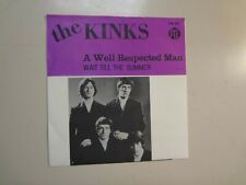 """KINKS:A Well Respected Man-Wait Till The Summer Comes Along-Sweden 7""""66 PYE PSL"""