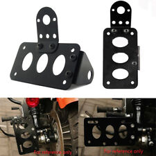Vertical Axle Side Mount License Plate Bracket Sport Bike Cruiser Bobber Chopper