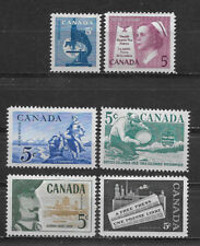 CANADA , 1950's , LOT OF 6 STAMPS , VLH