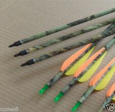 6Pcs Army Camouflage Camo Carbon Arrow Compound bow Hunting Archery Dead Strike