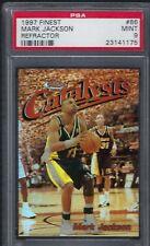 1997 Finest Refractor #86 Mark Jackson HOF Indiana Pacers   -MINT PSA 9-