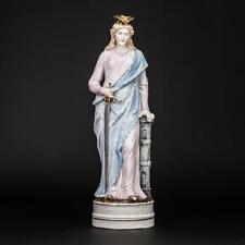 "St Barbara Statue | Saint Porcelain Figure | Antique Bisque Figurine | 14"""